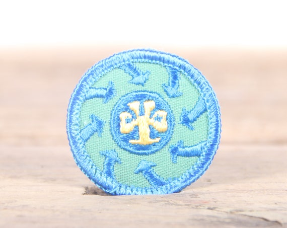 """Vintage Girl Scout Patch / 1970's-80's Scout Patch / Blue Old Stock Scout Patch / 1.5"""" Girl Scouts Patch / Scout Badge"""
