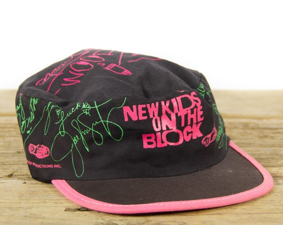 Vintage 1980's New Kids on the Block Hat / Stretch Painters Hat / Big Step Productions / Vintage Baseball Hat / Old Baseball Cap