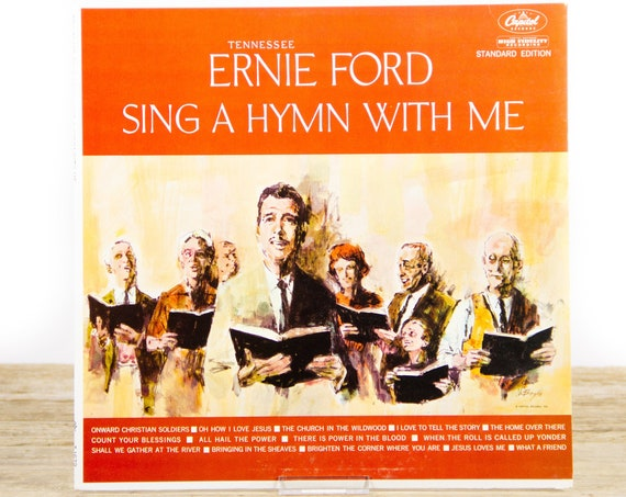 """Vintage Tennessee Ernie Ford """"Sing A Hymn With Me"""" Capitol T1679 Record Album LP  / Gospel Christina / Music LP Vinyl Record"""