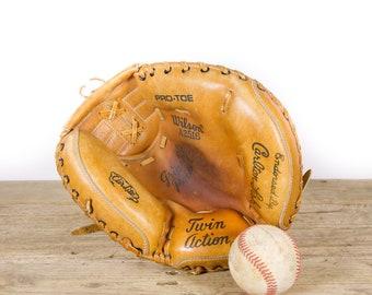 Vintage Wilson A2516 Catchers Mitt / Old Vintage Leather Baseball Glove / Baseball Glove / Antique Baseball Glove / Antique Mitt Decor