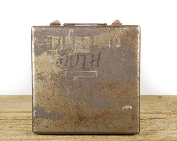 Vintage First Aid Kit / Vintage Medical Kit / Medicine Box / Medical Cabinet / Industrial Medical Kit / Industrial First Aid Kit