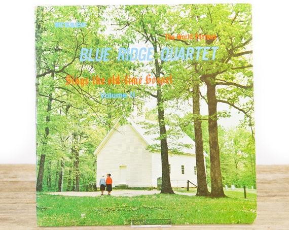 "Vintage Blue Ridge Quartet ""Sings The old-time Gospel"" Christian Gospel Record Album / Music LP Vinyl Record"