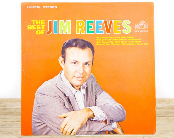 """Vintage Jim Reeves """"The Best of Jim Reeves"""" 1964 RCA Victor Lsp-2890 Stereo LP Record Album /  Country Music LP Vinyl Record"""