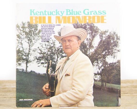 Vintage Bill Monroe Kentucky Blue Grass MCA-136 LP Record Album / Vinyl Record / 33 Vinyl Records / Country Music