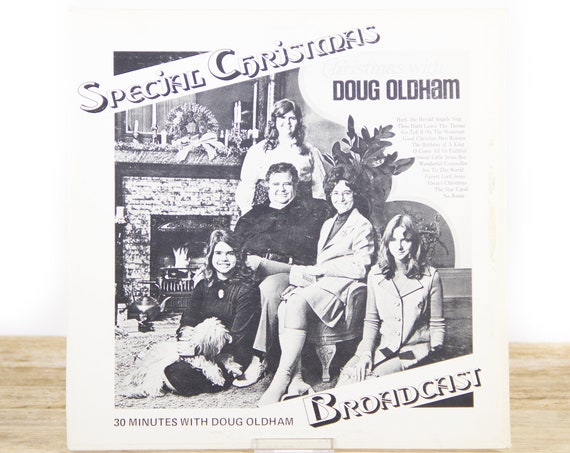 """Vintage Christmas Vinyl Record / Christmas Radio Special Broadcast Bill Gaither """"Back Home in Indiana"""" 33 Vinyl Record / Xmas Music /"""