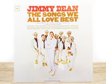 "Vintage Jimmy Dean ""The Songs We All Love Best"" Chuck Cassey LP Vinyl Record / Antique 33 Vinyl Records / Country Folk / 1960's"