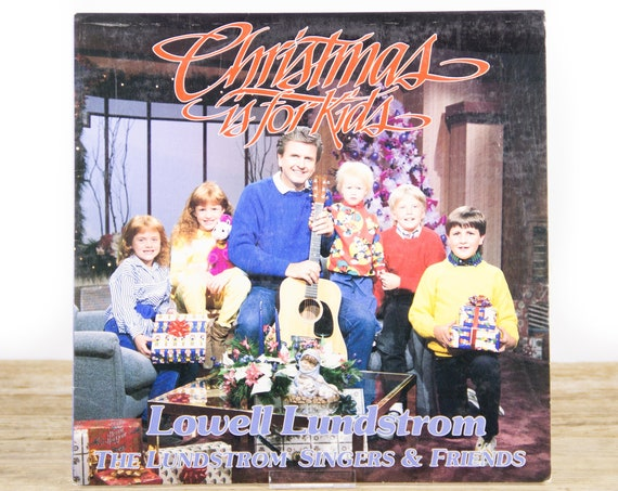 """Vintage Christmas Vinyl Record / Lundstrom Singers, Lowell Lundstrom """"Christmas Is For Kids"""" (1987)  / Xmas Music / Folk Christmas Music"""