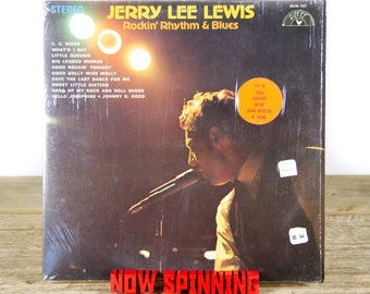 "Vintage Jerry Lee Lewis ""Rockin' Rhythm & Blues"" (1969) Vinyl Record / Rock and Roll / Rhythm and Blues / Rock / Old Antique Vinyl Record"