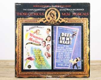 "Vintage 1973 MGM Musicals ""Words and Music"" ""Deep in my Heart"" LP Vinyl Record / Antique 33 Vinyl Records / Old Records  / Musicals"