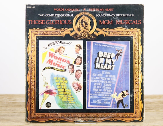 """Vintage 1973 MGM Musicals """"Words and Music"""" """"Deep in my Heart"""" LP Vinyl Record / Antique 33 Vinyl Records / Old Records  / Musicals"""