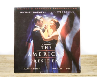 Vintage 1996 The American President LaserDisc Movie / Vintage Laser Disc Movies / Movie Theater Decor / Movie Room Decor / Movie Posters