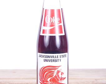 Vintage Coca Cola Bottle / 1985 Jacksonville State University Coca Cola Glass Bottle / Gamecocks Basketball Cola Bottle Glass Coke Bottle