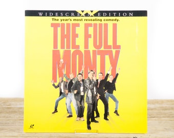 Vintage 1998 Full Monty LaserDisc Movie / Vintage Laser Disc Movies / Movie Theater Decor Movie Room Decor Movie Posters / 90s Decor