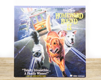 Vintage Disney Homeward Bound 2 LaserDisc Movie / Vintage Laser Disc Movies / Movie Theater Decor Movie Room Decor Movie Posters / 90s Decor