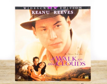 Vintage 1995 A Walk In The Clouds LaserDisc Movie / Vintage Laser Disc Movies / Movie Theater Decor / Movie Room Decor Posters / 90s Decor