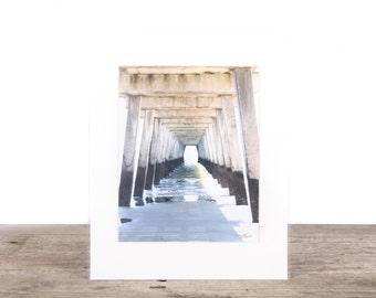 Original Fine Art Photography / Beach Photography / Pier / Beach Sand / Beach Gift / Beach Decor / Beach House Decorations / Ocean