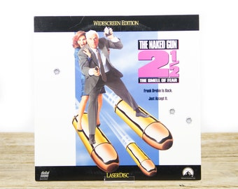 Vintage 1991 The Naked Gun 2 1/2 LaserDisc Movie / Vintage Laser Disc Movies / Movie Theater Decor / Movie Room Decor Movie Posters