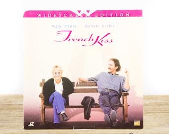 Vintage 1995 French Kiss LaserDisc Movie / Vintage Laser Disc Movies / Movie Theater Decor / Movie Room Decor Movie Posters / 90s Decor