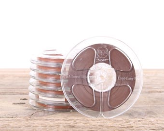 "8 Vintage  5"" Sound Tape / RCA Magnetic Recording Plastic Tape Reels  / Audio Recording Tape / Audiophile Gift Music Decor"