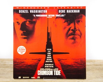 Vintage 1995 Crimson Tide LaserDisc Movie / Vintage Laser Disc Movies / Movie Theater Decor / Movie Room Decor Movie Posters / 90s Decor