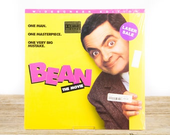 Vintage 1998 SEALED Bean The Movie LaserDisc Movie / Vintage Laser Disc Movies / Movie Theater Decor / Movie Room Decor / 90s Decor