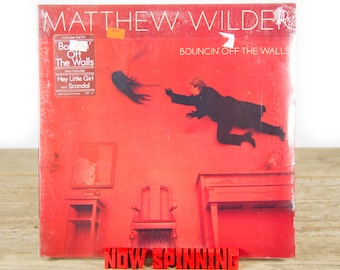 "Vintage Factory Sealed Matthew Wilder ""Bouncin' Off The Walls"" (1984) Vinyl 33 Album LP / 1980's Records / Electronic Rock Pop Synth-pop"