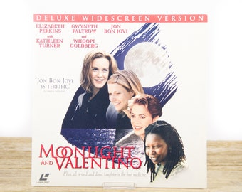 Vintage 1995 Moonlight and Valentino LaserDisc Movie / Vintage Laser Disc Movies / Movie Theater Decor / Movie Posters / 90s Decor