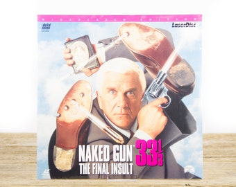 Vintage 1994 SEALED Naked Gun 33 1/3 LaserDisc Movie / Vintage Laser Disc Movies / Movie Theater Decor / Movie Room Decor