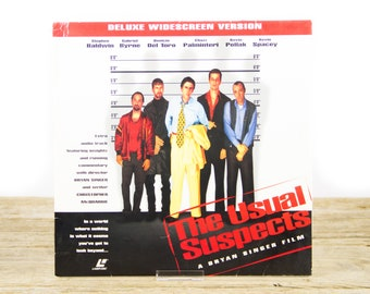 Vintage 1995 The Usual Suspects LaserDisc Movie / Vintage Laser Disc Movies / Movie Theater Decor / Movie Room Decor / Movie Posters