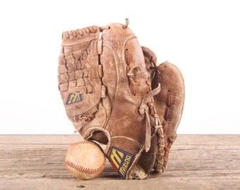 Old Vintage Leather Baseball Glove / Muzino GPT 5 Baseball Glove / Antique Baseball Glove / Old Glove Antique Mitt / Baseball Decor