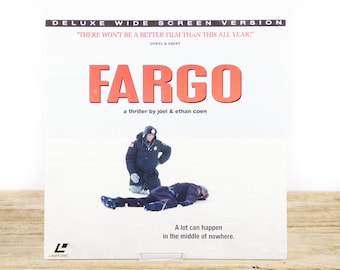 Vintage 1996 Fargo LaserDisc Movie / Vintage Laser Disc Movies / Movie Theater Decor / Movie Room Decor Movie Posters / 90s Decor