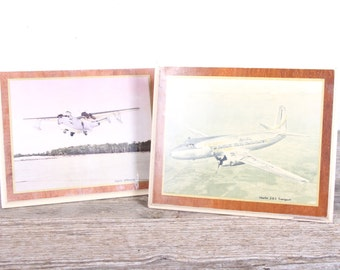 Vintage Airplane Pictures / Antique Martin Airplane Art / Airplane Decor / Airplane Nursery / Old Airplane Office Decor Wall / Unique Gifts
