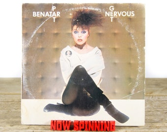 "Vintage Pat Benatar ""Get Nervous"" (1982) Vinyl Record / Pop / Pop Rock / Rock / 80's Music / Old Antique Vinyl Record"