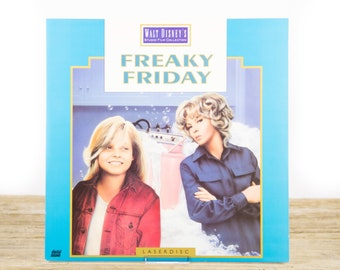 Vintage Disney Freaky Friday LaserDisc Movie / Vintage Laser Disc Movies / Movie Theater Decor Movie Room Decor Movie Posters / 90s Decor