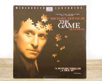 Vintage 1997 The Game LaserDisc Movie / Vintage Laser Disc Movies / Movie Theater Decor / Movie Room Decor Movie Posters / 90s Decor