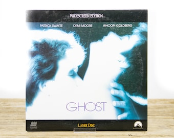 Vintage 1991 Ghost LaserDisc Movie / Vintage Laser Disc Movies / Movie Theater Decor / Movie Room Decor / Movie Posters / Demi Moore Swayze