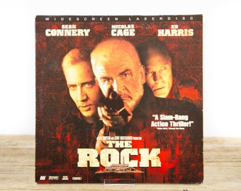 Vintage 1996 The Rock LaserDisc Movie / Vintage Laser Disc Movies / Movie Theater Decor / Movie Room Decor Movie Posters / 90s Decor
