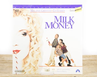 Vintage 1995 SEALED Milk Money LaserDisc Movie / Vintage Laser Disc Movies / Movie Theater Decor / Movie Room Decor / 90s Decor