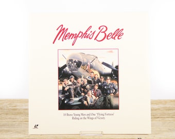 Vintage 1990 Memphis Belle LaserDisc Movie / Vintage Laser Disc Movies / Movie Theater Decor / Movie Room Decor Movie Posters / 90s Decor