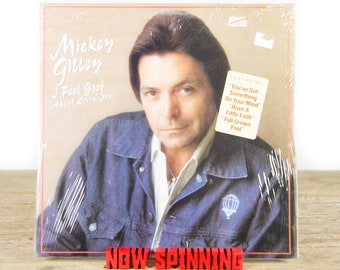 "Vintage Factory Sealed Mickey Gilley ""I Feel Good (About Lovin' You)"" LP Record Album / Vinyl Record / 33 Vinyl Records / Country Folk Music"