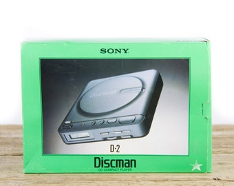 Vintage Sony Discman D-2 Compact CD  Player / Vintage Portable CD Player / Vintage Electronics / CD Player Portable / 1990s / 90s Decor
