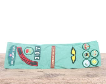 "Vintage Girl Scout Sash / 1970's Scout Patches / Cahaba Girl Scouts / Birmingham Alabama Scouts / 1.5"" Girl Scouts Patch / Scout Badge"