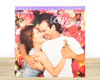 Vintage 1996 Bed of Roses LaserDisc Movie / Vintage Laser Disc Movies / Movie Theater Decor / Movie Room Decor Movie Posters / 90s Decor