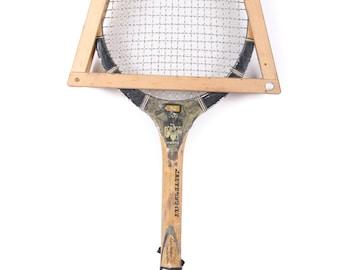 Vintage Wooden Tennis Racket / Pro Model 800 Masterbuilt Wood Tennis Racquet  / Tennis Racket / Antique Tennis Racket / Sports Decor
