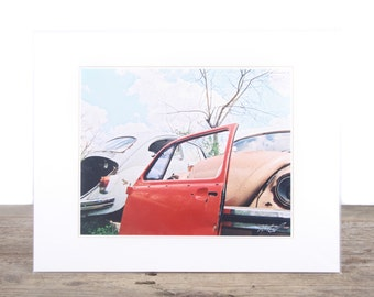 Original Fine Art Photography / VW Art / Orange Beetle Bug Picture / Volkswagen Photography / VW Gift / Signed Photography / Film Prints