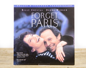 Vintage 1995 Forget Paris LaserDisc Movie / Vintage Laser Disc Movies / Movie Theater Decor / Movie Room Decor Movie Posters / 90s Decor