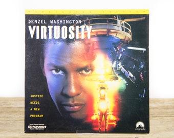 Vintage 1996 Virtuosity LaserDisc Movie / Vintage Laser Disc Movies / Movie Theater Decor / Movie Room Decor Movie Posters / 90s Decor