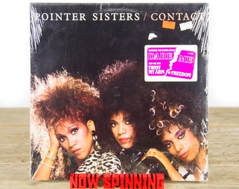 "Vintage Factory Sealed Pointer Sisters ""Contact"" Vinyl 12"" Album LP (1985) / 33 Vinyl LP Records / Electronic Funk Soul Rock Pop"
