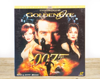 Vintage 1995 Golden Eye James Bond 007 LaserDisc Movie / Vintage Laser Disc Movies / Movie Theater Decor / Movie Room Decor / 90s Decor