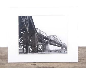 Original Fine Art Photography / Black and White Street Photography / Architectural Bridge Unique Photography / B&W Signed Photography Prints